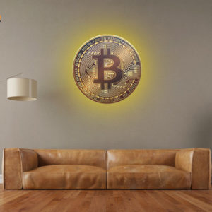 Bitcoin On The Wall + LED (XL)