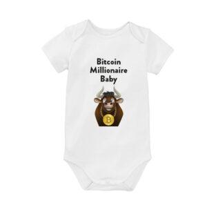 Bitcoin Romper Bitcoin Millionaire Baby