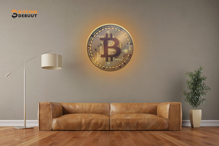 Bitcoin On The Wall+ LED (M)