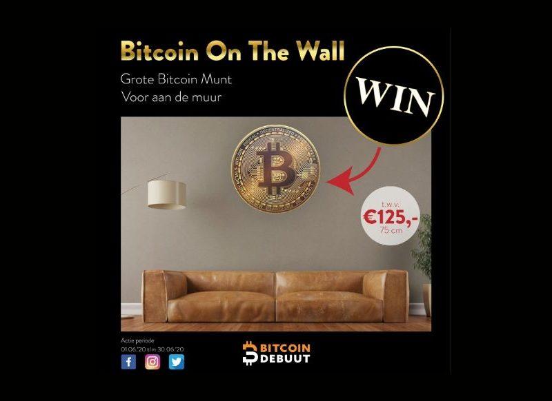 WINACTIE   Bitcoin On The Wall   t.w.v. €125,-