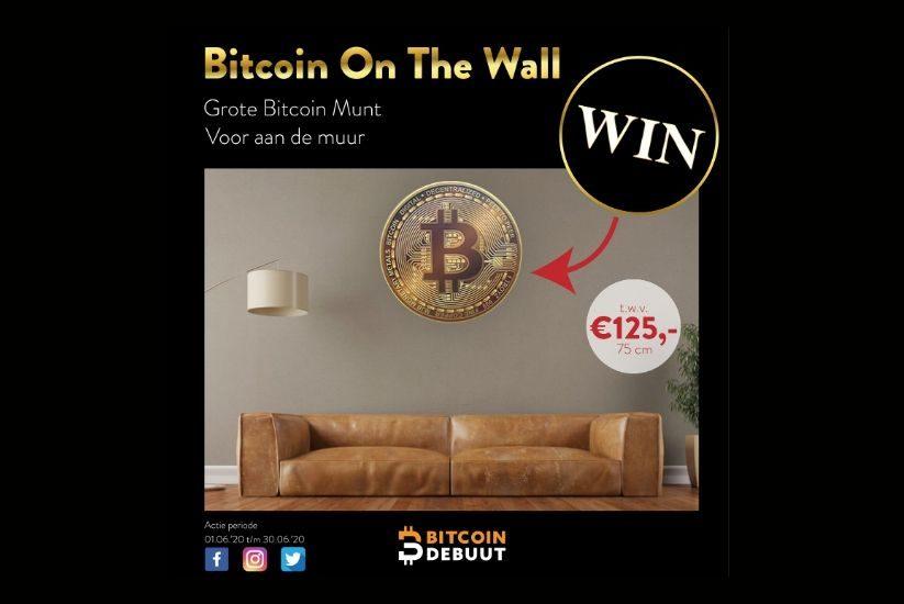 WINACTIE | Bitcoin On The Wall | t.w.v. €125,-