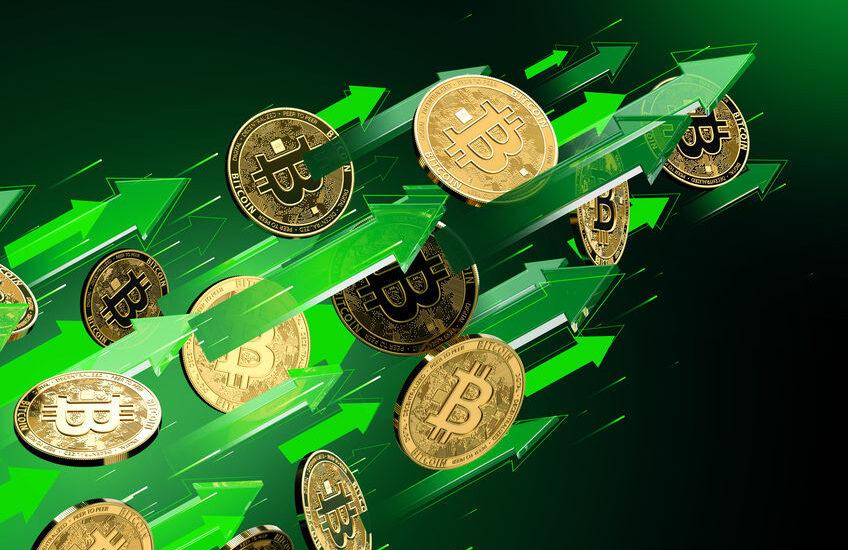 Parabolische uptrend Bitcoin
