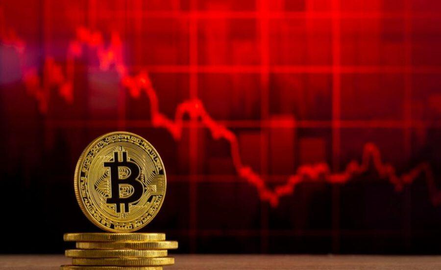 Bitcoin en altcoins rood